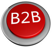 B2B Button — Stock Photo