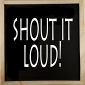 Shout it loud — Stock Photo