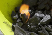 Burning carbon — Stock Photo