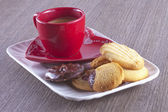 Coffe and biscuits — Stock Photo