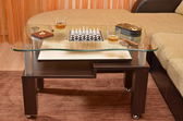 Table with Chess, Cigar and Whisky — Stock Photo