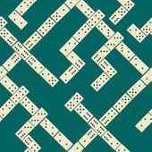 Sömlös domino mönster — Stockvektor