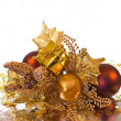 Christmas ornament - golden branch — Stock Photo #2486959
