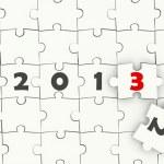 2013 New year symbol — Stock Photo