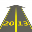 Stock Photo: 2013 New Year on the road