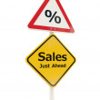 Sales Just Ahead road sign — Stock Photo #13697681