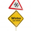 Winter Just Ahead road sign — Stock Photo #13870234