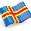 3d flag of Aland Islands isolated on white - Stock Photo