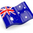 3d flag of Australia isolated on white - Stock Photo