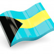 3d flag of Bahamas isolated on white - Stock Photo
