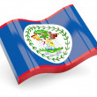 3d flag of Belize isolated on white - Stock Photo