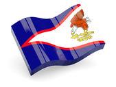 3D flagga amerikanska samoa isolerad på vit — Stockfoto
