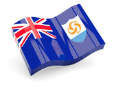 3d flag of Anguilla isolated on white — Stock Photo