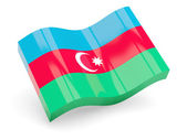 3d flag of Azerbaijan isolated on white — Stock Photo