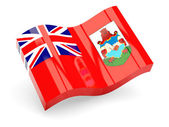 3d flag of Bermuda isolated on white — Stock Photo