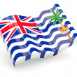 3d flag of British Indian Ocean Territory isolated on white - Stock Photo
