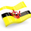 3d flag of Brunei isolated on white - Stock Photo