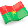 3d flag of Burkina Faso isolated on white - Stock Photo