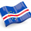 3d flag of cape verde — Stock Photo