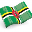 3d flag of dominica - Stock Photo