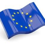 3d flag of european union — Stock Photo #22199275