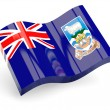 Stock Photo: 3d flag of falkland islands