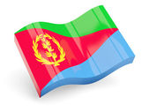 3d flag of eritrea — Stock Photo