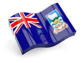 3d flag of falkland islands — Stock Photo