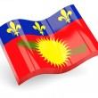 Stock Photo: 3d flag of guadeloupe