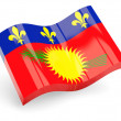 3d flag of guadeloupe — Stock Photo