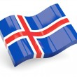 3d flag of iceland — Stock Photo