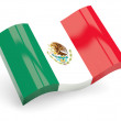 Stock Photo: 3d flag of mexico