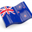3d flag of new zealand — Stock Photo