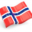 Stock Photo: 3d flag of norway