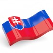 3d flag of slovakia — Stock Photo #22209615