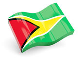 3d flag of guyana — Stock Photo