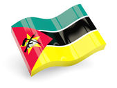 3d flag of mozambique — Stock Photo