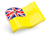 3d flag of niue — Stock Photo