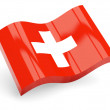 3d flag of switzerland — Stock Photo