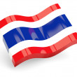 3d flag of thailand - Stock Photo