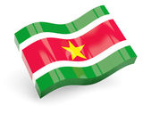 3d flag of suriname — Stock Photo
