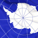 Antarktika bayrak — Stok fotoğraf