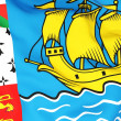 Flag of saint pierre and miquelon - Stock Photo