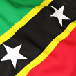 Stock Photo: Flag of saint kitts and nevis