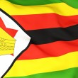 Stock Photo: Flag of zimbabwe