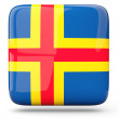 Stock Photo: Square icon of aland islands
