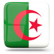 Stock Photo: Square icon of algeria