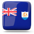 Stock Photo: Square icon of anguilla