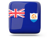 Square icon of anguilla — Stock Photo