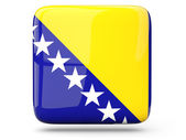 Square icon of bosnia and herzegovina — Stock Photo